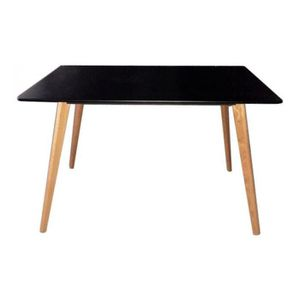 Table scandinave noire for Table ronde noire scandinave