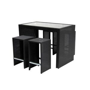 mange debout pizzicato table haute 4 tabourets achat. Black Bedroom Furniture Sets. Home Design Ideas