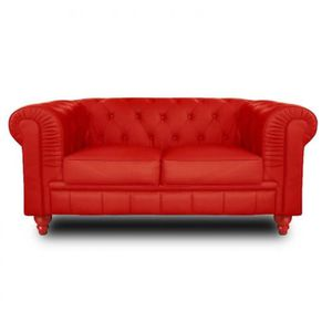 Canapé CHESTERFIELD ROYAL 2 places Rouge