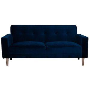 CANAPÉ - SOFA - DIVAN Miliboo - Canapé design 3 places velours bleu nuit
