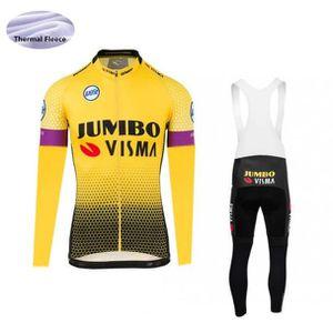 TENUE DE CYCLISME 2019 Hiver Jumbo Visma Maillot de Cyclisme Thermiq