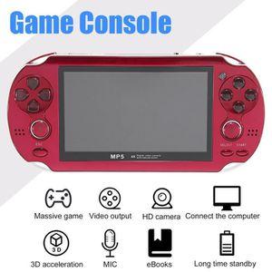 CONSOLE PSP Console de jeu portable 4.3'Écran PSP rouge avec C