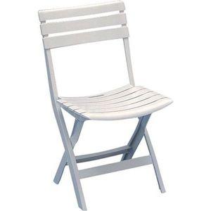 FAUTEUIL JARDIN  Chaise de jardin pliante Birki - blanc