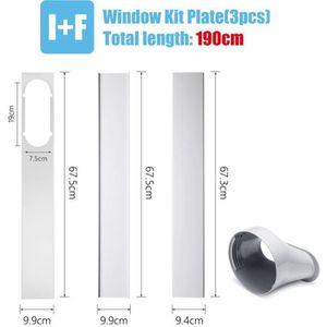 CLIMATISEUR FIXE 3PCs kit Glissière de fenêtre 190cm + Adaptateur P