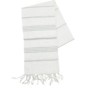 Fouta tissage plat classique blanche