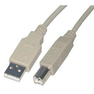 CÂBLE INFORMATIQUE VSHOP® Câble USB - Type AB - Mâle 5 Mètres - Noir