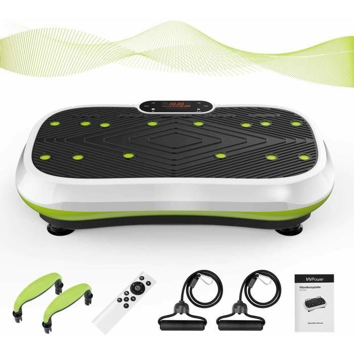 MVPower Plateforme Vibrante Fitness 3D Plaque vibrante +2 Bandes Elastiques d'Entraînement