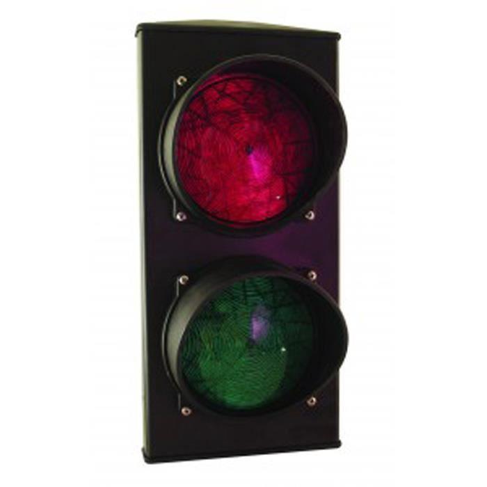 Feu de signalisation bicolore rouge/vert 230v