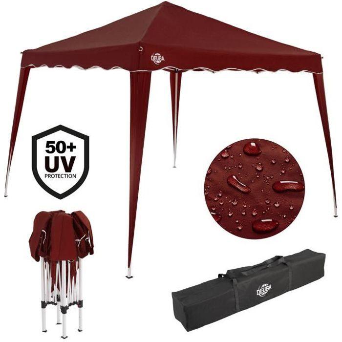 Pavillon Capri Rouge Pliable - Tonnelle Tente de jardin Barnum Chapiteau 3x3m
