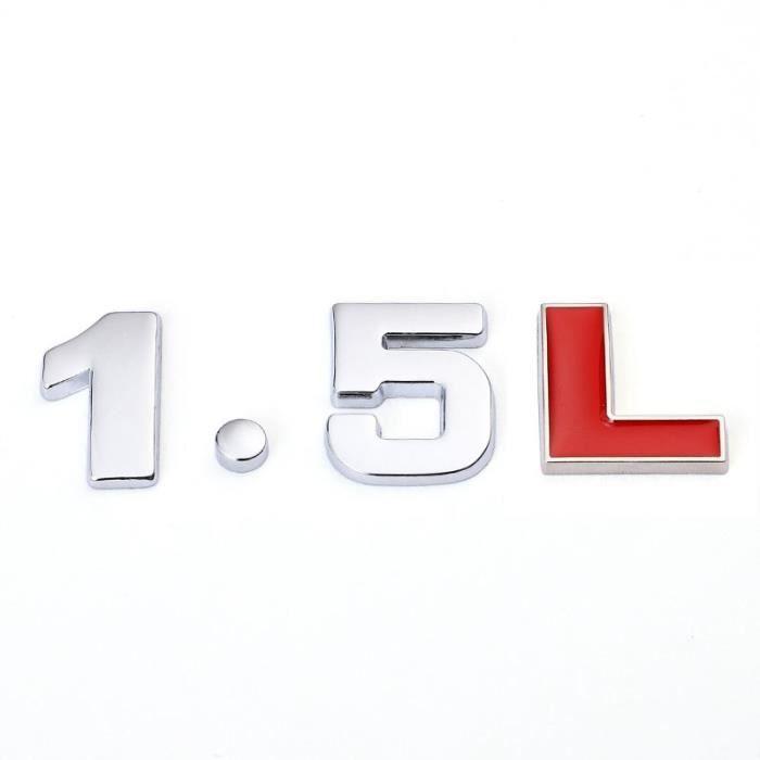 1.5L -Autocollant en métal 3D pour coffre arrière de voiture, 1.4, 1.5, 1.6, 1.8, 2.0, 2.2, 2.4, 2.5, 2.8, 3.0L, pour Audi A3, A4, A