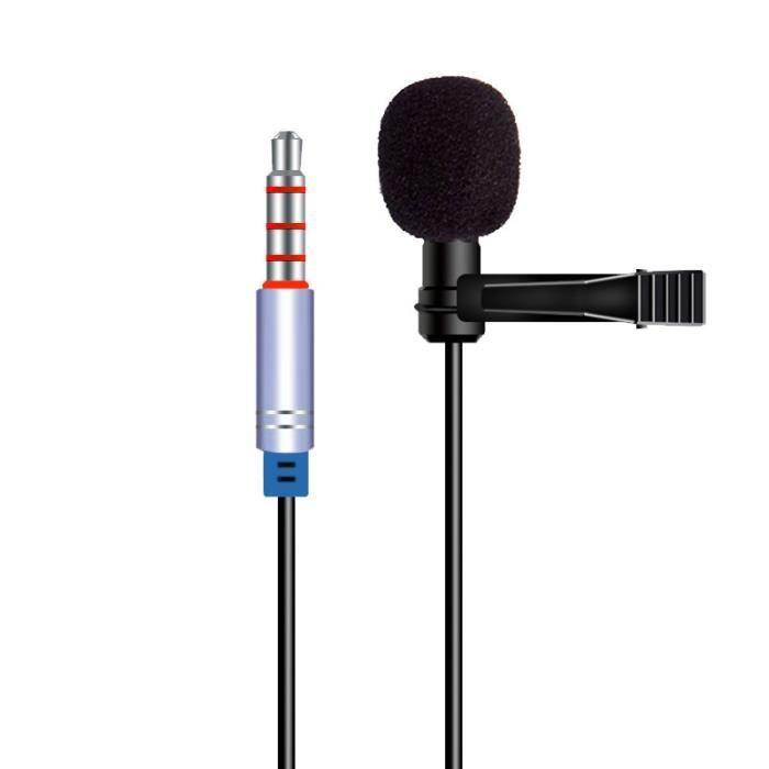 Casque audio - Microphone,Microphone professionnel micro Audio vidéo enregistrement micro pour téléphones - Type In Line 4 Pole #A