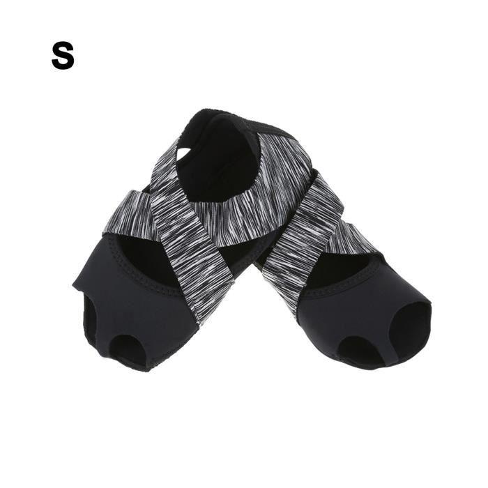 YOSOO chaussures de yoga antidérapantes Chaussures d'entraînement de danse pour femmes Yoga Pilates Antidérapantes Barre Soft