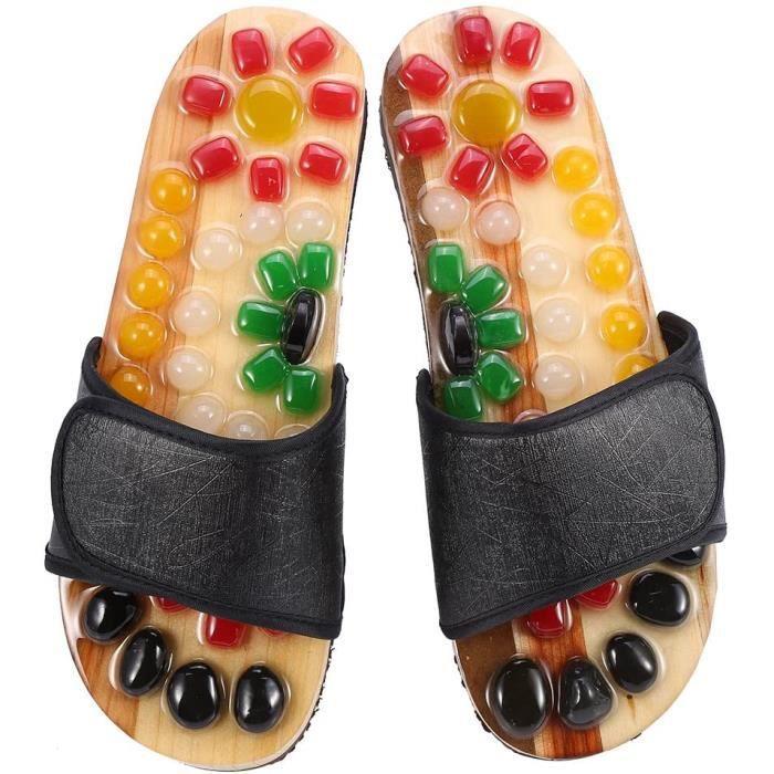 Accessoires de massage manuel Sandales de massage, massage chaussons pour homme et femme ergonomique d'acupression pavés 178970