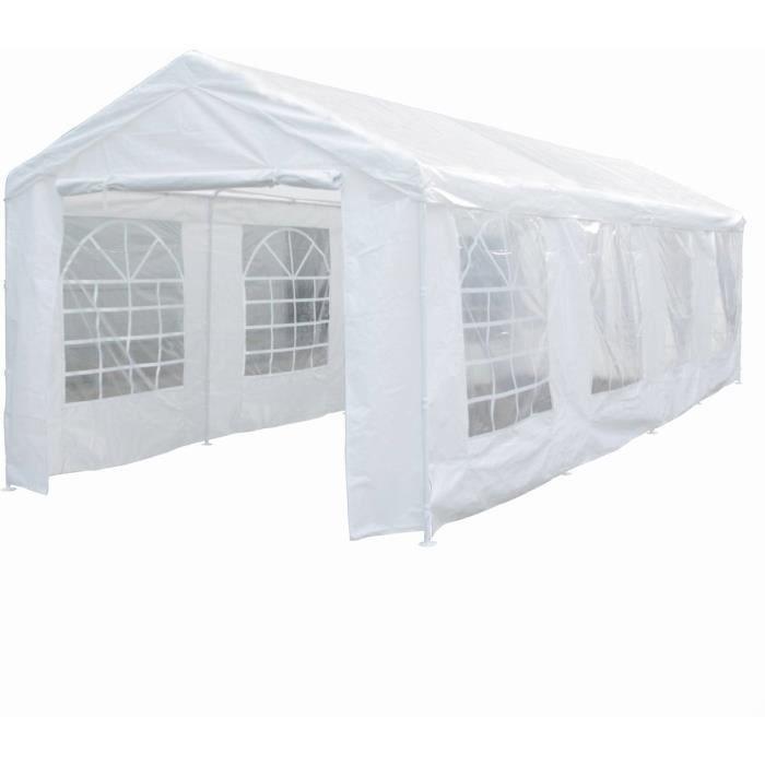 Tente de réception -Celia- en polyéthylène - 25.81 m² - 890 x 290 x 270/200 cm