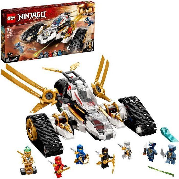 LEGO® 71739 NINJAGO® Le tout-terrain ultrasonique - Jouet Moto, Jeu de Construction pour Enfants avec Mini Figurine Ninja Zane