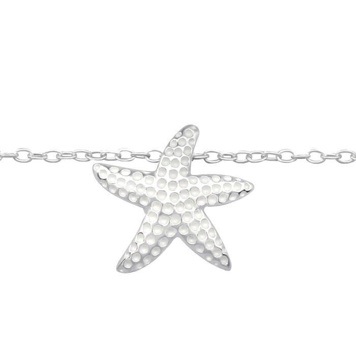 Les Plaisirs de Stella Chevillere Chaine de Cheville en Argent 925-000 - Pendentif Etoile de Mer