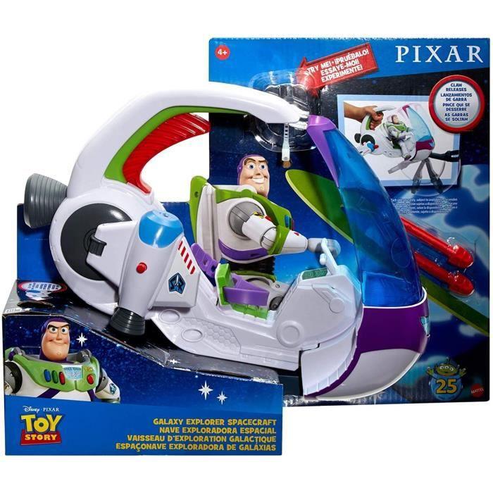 Mattel - Toy Story - Vaisseau spatial avec canon de tir à la roquette, sans personnage