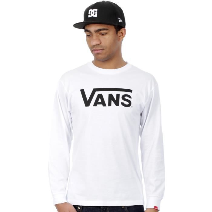 Tee shirt à manches longues Vans SP15 Classic Blanc-Noir