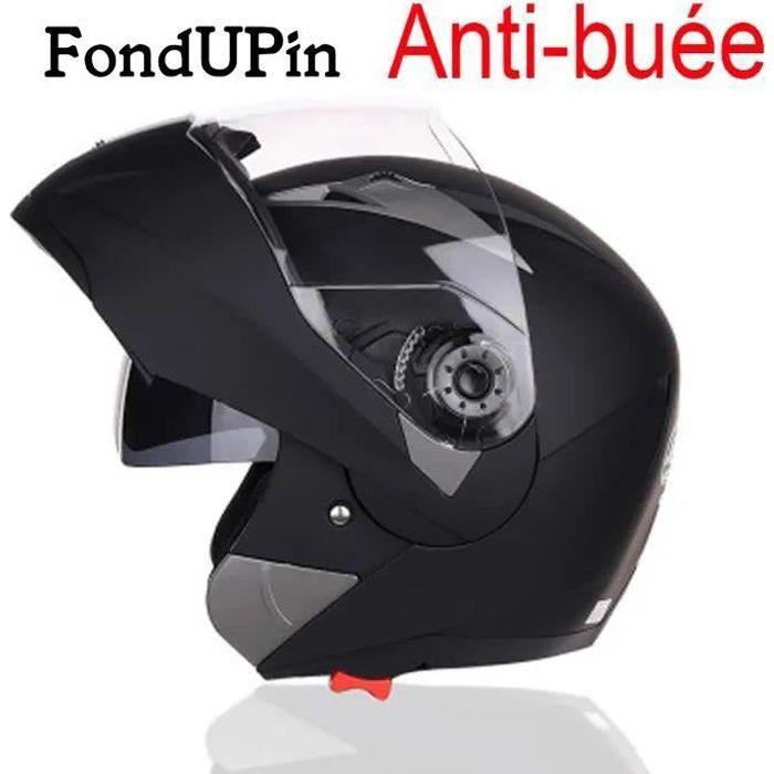 FONDUPIN-Casque de Moto de marque luxe Casque intégral Double lentille anti-buée Respirant Résistant à l'usure Haute qualité