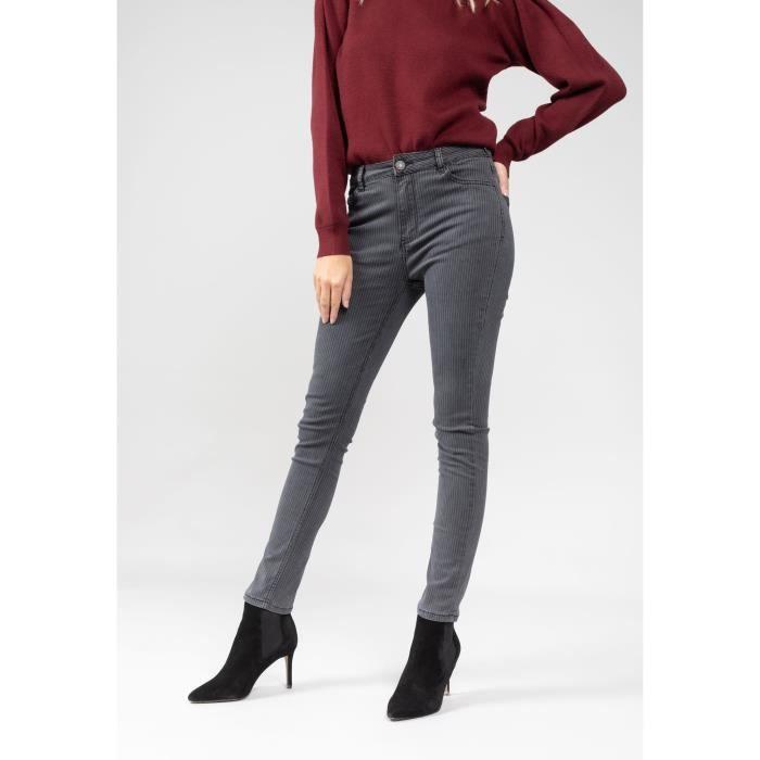 Pantalon jeans femme Deeluxe zelia - noir - 40
