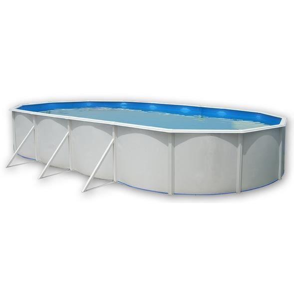 MALLORCA Piscine ovale en acier avec kit d'été et tapis 915x457x120cm