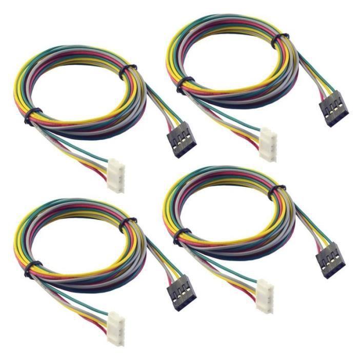 4 pièces 1 M câbles de moteur de cordon d'alimentation fils de ligne durables pour imprimante 3D NEMA 17 pas à CHAUFFE BIBERON