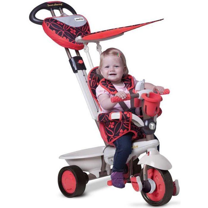 smarTrike Dream 4-en-1 bébé tricycle évolutif smart trike pour enfant 15+ Mois - Rouge