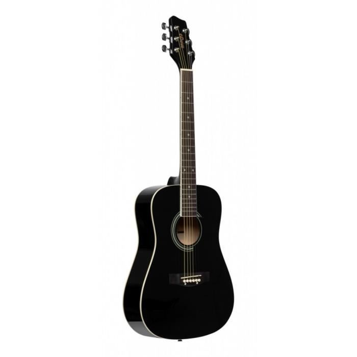 Stagg SA20D 3/4 BK - Guitare acoustique dreadnought 3/4 noire