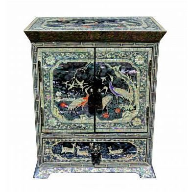 petite armoire bijoux luxe asiatique en nacre achat. Black Bedroom Furniture Sets. Home Design Ideas