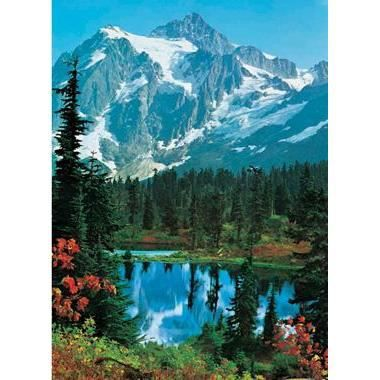 Photo murale de montagne 4 panneaux coller 183 x 254 for Decoration murale montagne