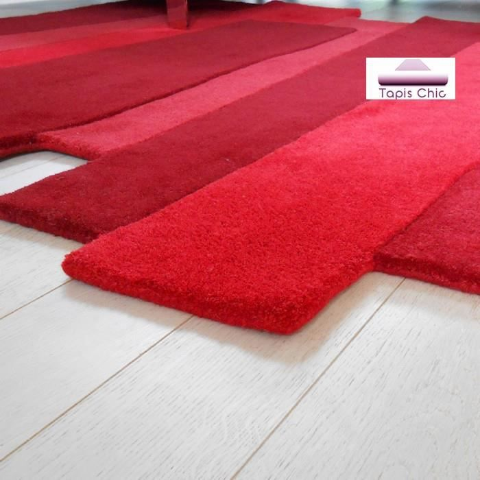 tapis contemporain en laine pebbles rouge par a achat. Black Bedroom Furniture Sets. Home Design Ideas