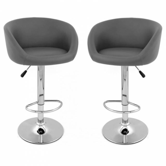 tabouret de bar concert x2 design gris achat vente. Black Bedroom Furniture Sets. Home Design Ideas