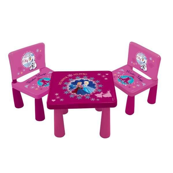 Set 2 chaises et 1 table frozen reine des neiges achat for Table et chaise bebe 2 ans