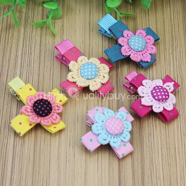 5pcs pince cheveux barrette fleur de floraison en tissu pour b b fille achat vente. Black Bedroom Furniture Sets. Home Design Ideas