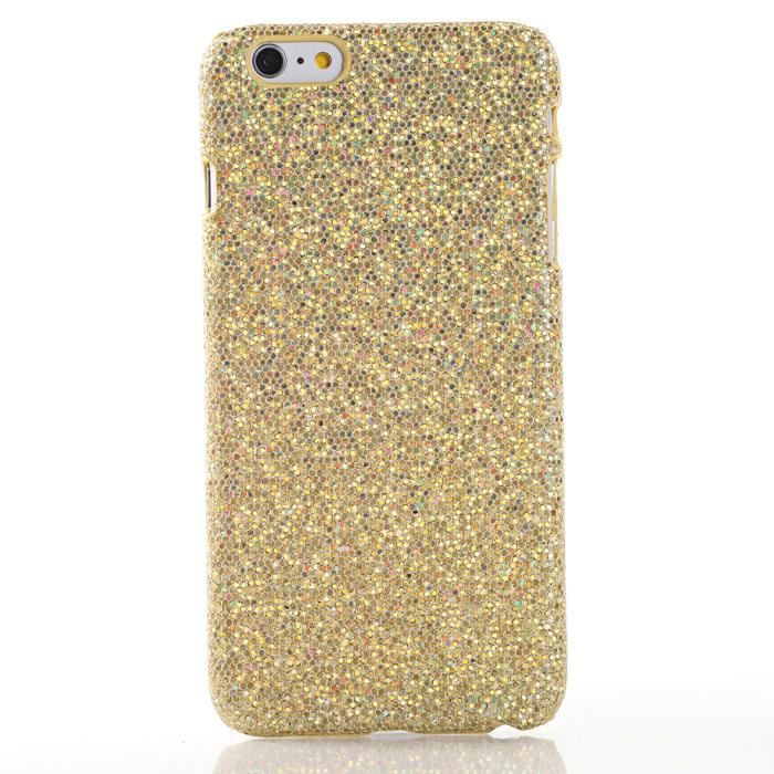 coque paillettes dor es pour apple iphone 6 plus achat coque bumper pas cher avis et. Black Bedroom Furniture Sets. Home Design Ideas