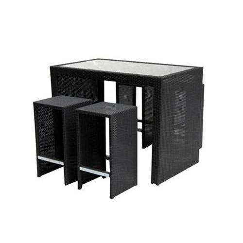 mange debout pizzicato table haute 4 tabourets achat vente salon de jardin mange debout. Black Bedroom Furniture Sets. Home Design Ideas