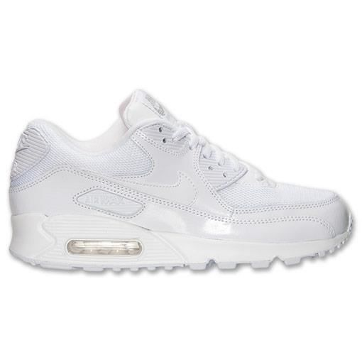 basket nike air max 90 femme blanche blanc achat vente. Black Bedroom Furniture Sets. Home Design Ideas