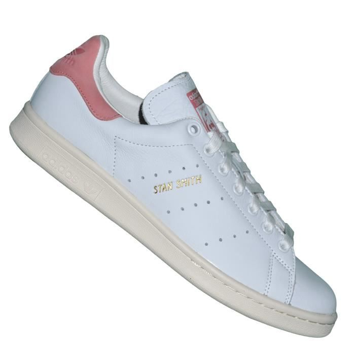 Adidas Originals - Baskets - Stan Smith S80024 - Blanc Rose Vieilli