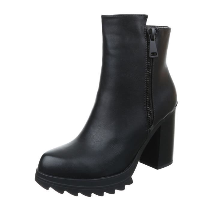 femme bottine chaussure High Heels Boots