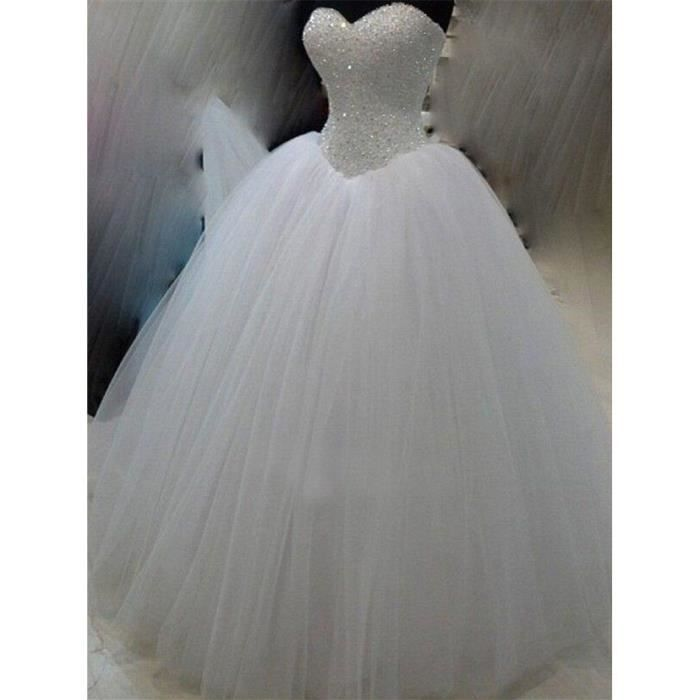 Robe de mariée de mariage longue du plancher