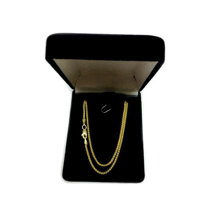 Collier- 14k blé ronde or jaune, 1,5 mm, 20