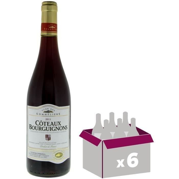 Coteaux Bourguignons Vin de Bourgogne - Rouge - AOC - 75 cl x6