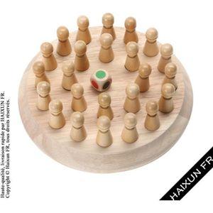 JEU SOCIÉTÉ - PLATEAU Enfants Match de mémoire en bois Jeux d'échecs de