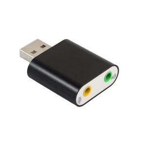CARTE SON INTERNE Adaptateur audio 3D Carte son 7.1 USB à 3.5mm casq