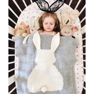 COUVERTURE - PLAID BÉBÉ Couverture Bébé en Tricot,  pour Naissance Enfant