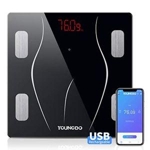 PÈSE-PERSONNE Pèse Personne Charge USB, Impedancemetre avec 23 D