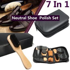 à Brosse Chaussure Cirage Bottes 7PCS Polissage Neutre Cuir sdChxQrt