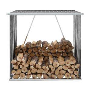 ABRI BÛCHES Abri bûches Abri de stockage de bois Acier galvani