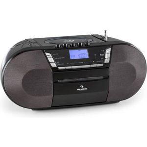 RADIO CD CASSETTE auna Jetpack - Boombox Radiocassette portable avec