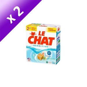 LESSIVE LE CHAT Lessive poudre Sensitive - x 25 (Lot de 2)